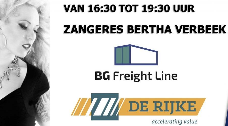 Zaterdag zorgt zangers Bertha Verbeek voor de 3e helft!