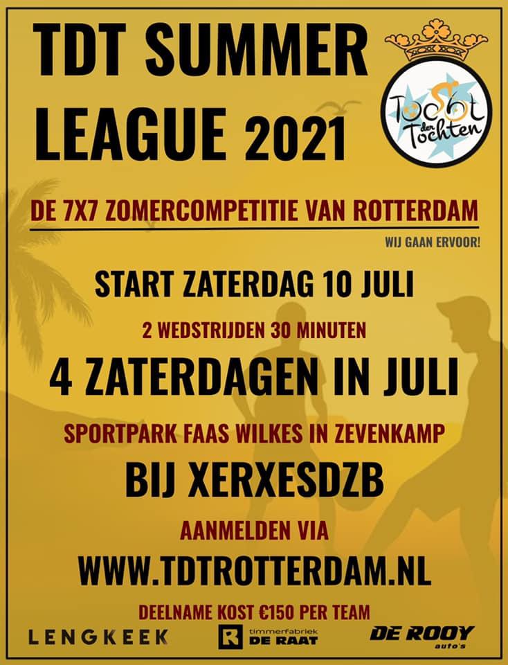 TDT Summer League 2021: Nog 3 plaatsen, dus meld je snel aan!