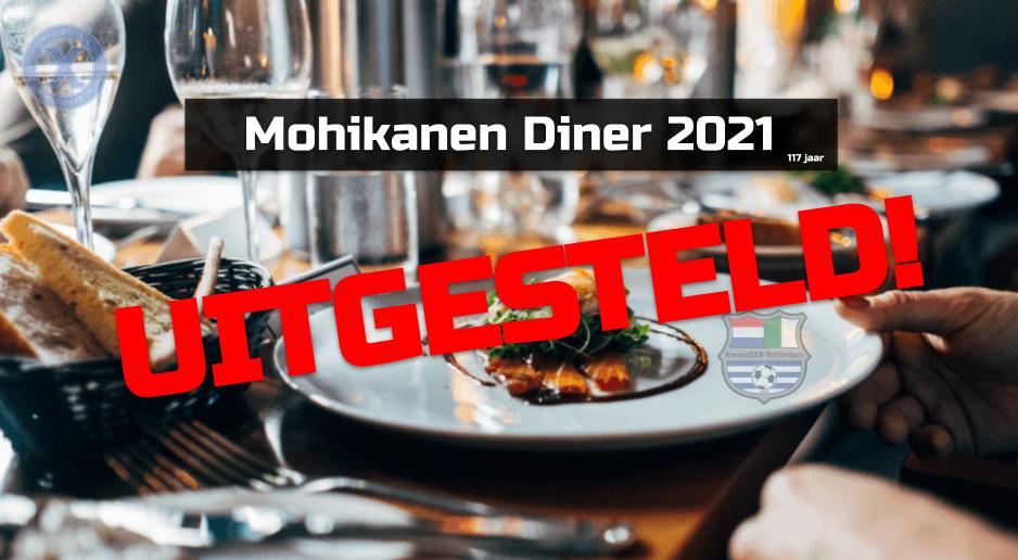Mohikanendiner 2021 uitgesteld!