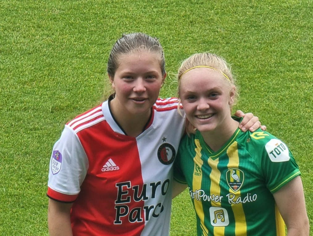 Voormalig XerxesDZB'er Romee van de Lavoir maakt debuut bij Feyenoord Vrouwen!